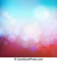 休日, bokeh, 背景, 抽象的, ライト