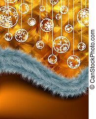 休日, card., クリスマス, 新しい, year., eps, 8