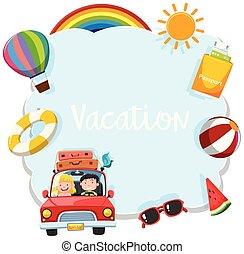 休暇, テンプレート, 観光客
