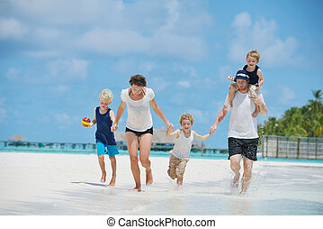 休暇, 家族, 幸せ