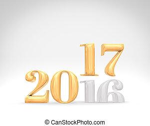 休暇, 207, スペース, 年, rendering), text., カード, (3d, 変化しなさい, 数, 休日, 付け加える, 金, 部屋, 2016, 新しい, スタジオ, 白