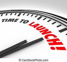 会社, サービス, ビジネス, 時計, プロダクト, 発射, 秒読み, 始めなさい, 期限, 言葉, 時間, 新しい, ...