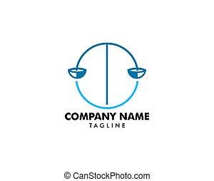 会社, ベクトル, デザイン, テンプレート, ロゴ, 法律