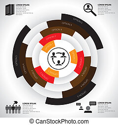 会社, &, マンパワー, 関係した, 仕事, ベクトル, infographics, 雇用