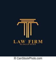 会社, ロゴ, 法律, ベクトル, アイコン, design.