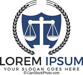 会社, ロゴ, 法律, design.