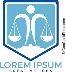 会社, ロゴ, 法律, template.