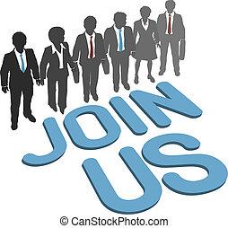会社, 参加しなさい, ビジネス, 私達, チーム