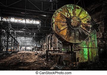 会社, 待つこと, metallurgical, 破壊, 古い