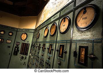 会社, metallurgical, 古い, 電気である, コントローラー, 部屋
