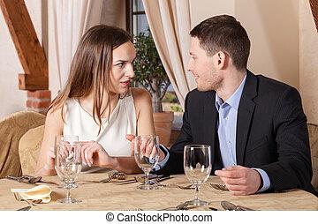 会話, レストラン