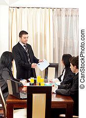会話, businesspeople, について, グラフィック