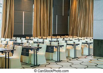 会議の会合, 部屋, 空, 前に
