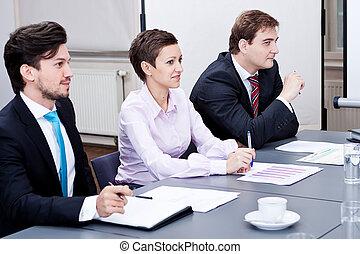会議テーブル, オフィス, ビジネス チーム