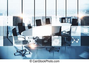 会議室, ∥で∥, デジタル, インターフェイス
