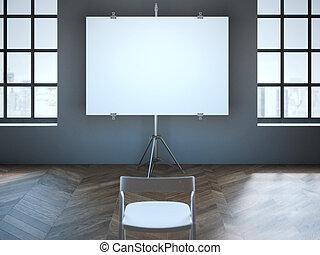 会議室, スクリーン, 1(人・つ), chair., ブランク