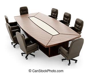 会議室, テーブル, 椅子