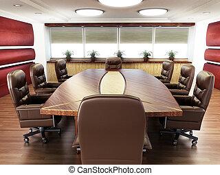 会議室, 人々はなし