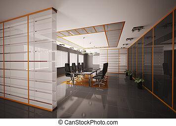 会議室, 内部, render, 3d