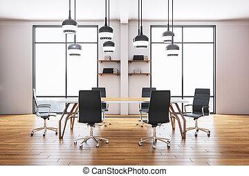 会議室, 現代部屋, オフィス