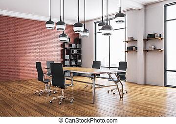 会議室, 贅沢, 部屋, オフィス