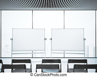 会議室, 2, レンダリング, ブランク, whiteboards, 3d