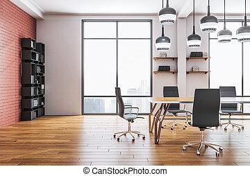 会議室, minimalistic, 内部, オフィス