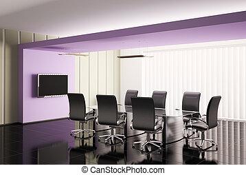 会議室, render, 3d