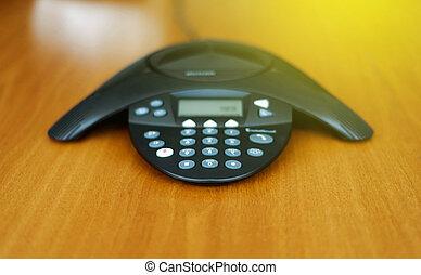 会議電話, 日当たりが良い, 部屋, ビジネス