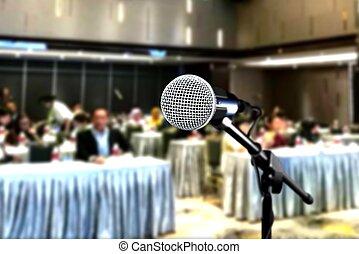 会議, の間, マイクロフォン, セミナー