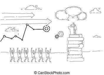 会議, グループ, ビジネス 人々, 先導, 朗らかである, スピーチ, 前部, トリビューン, ミーティング, セミナー, 人