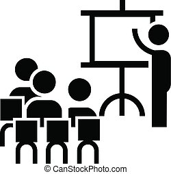 会議, スタイル, 単純である, 仕事のチーム, アイコン