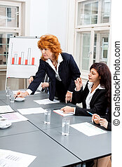 会議, ビジネスオフィス, ミーティング, チーム, プレゼンテーション