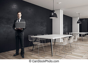 会議, ビジネスマン, 現代部屋