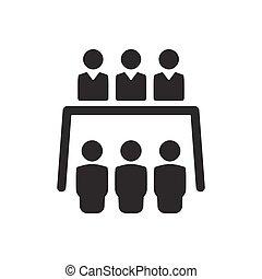 会議, ビジネス, アイコン