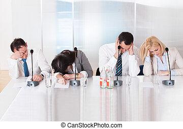 会議, ビジネス 人々