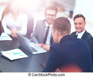 会議, ビジネス, businesspeople, ミーティング, ∥あるいは∥, セミナー
