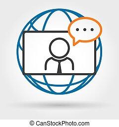 会議, ビデオ, オンラインで