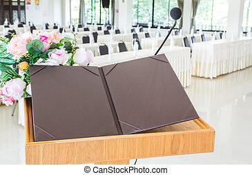 会議, プレゼンテーション, 部屋, ビジネス セミナー