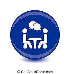 会議, 人々のモデル, vector., icon., テーブル。