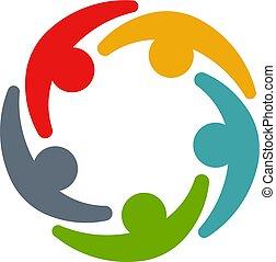 会議, 企業家, circle., ビジネス 人々