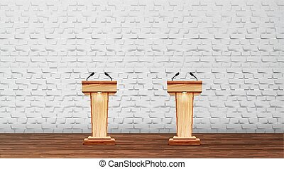 会議, 内部, ベクトル, 討論, 部屋