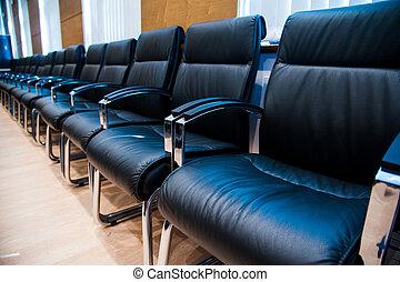 会議, 内部, 空, ビジネス, 部屋