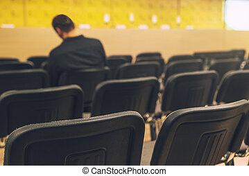 会議, 出版物, よくわからない, 部屋, ジャーナリスト