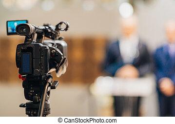 会議, 出版物, カメラ, テレビ