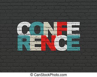 会議, 壁, concept:, 背景, ビジネス