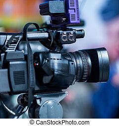 会議, 媒体, カメラ