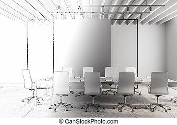 会議, 引かれる, デザイン, 部屋, 手