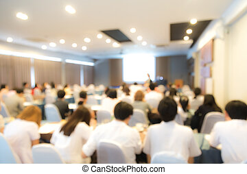会議, 抽象的, プレゼンテーション, ビジネス, ぼやけ