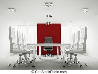 会議, 白い部屋, 3d